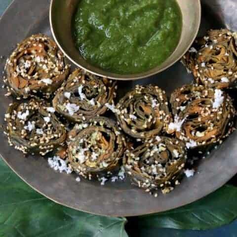 Alu Vadi Recipe - Traditional Maharashtrian Snack