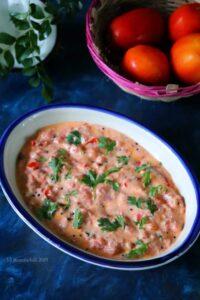 Tomato Pachadi / South Indian Tomato Raita