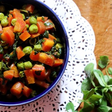 Gajar Matar aur Methi Ki Sabzi / Carrot, Peas and Methi Veg