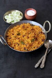 Phodnicha Bhat (Maharashtrian Seasoned Rice Recipe with Leftover Rice)