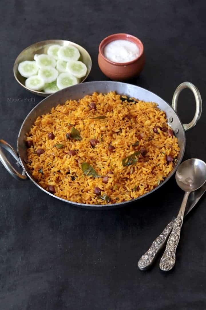 Phodnicha Bhat (Maharashtrian Seasoned Rice Recipe with Leftover Rice)