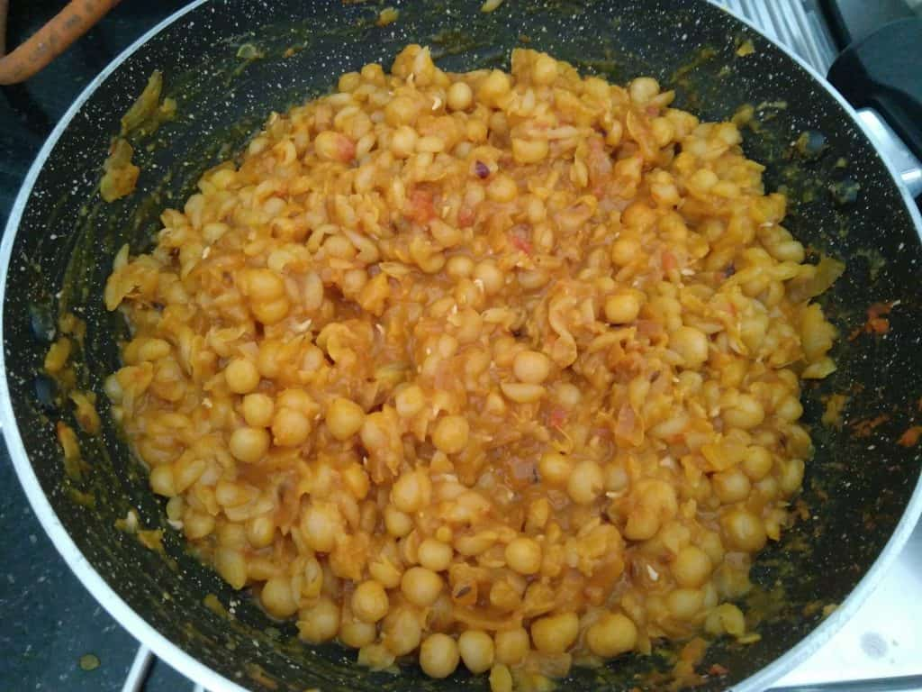 Ragda Mixture is getting ready