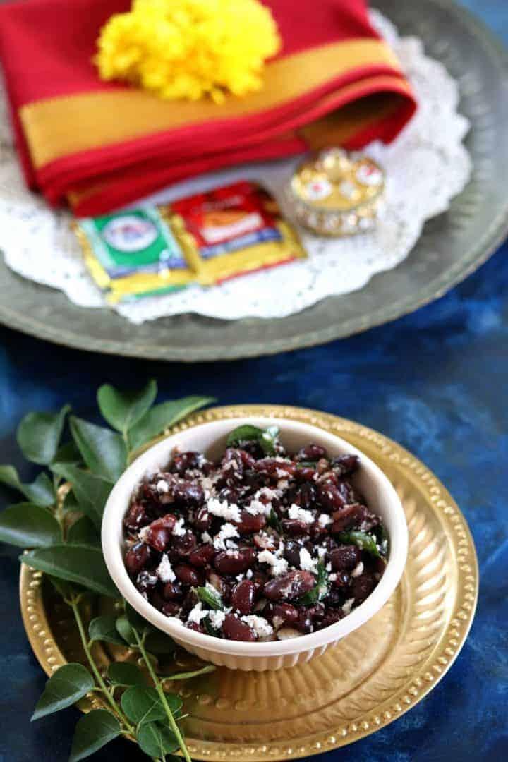 Rajma Sundal or Kidney Beans Sundal