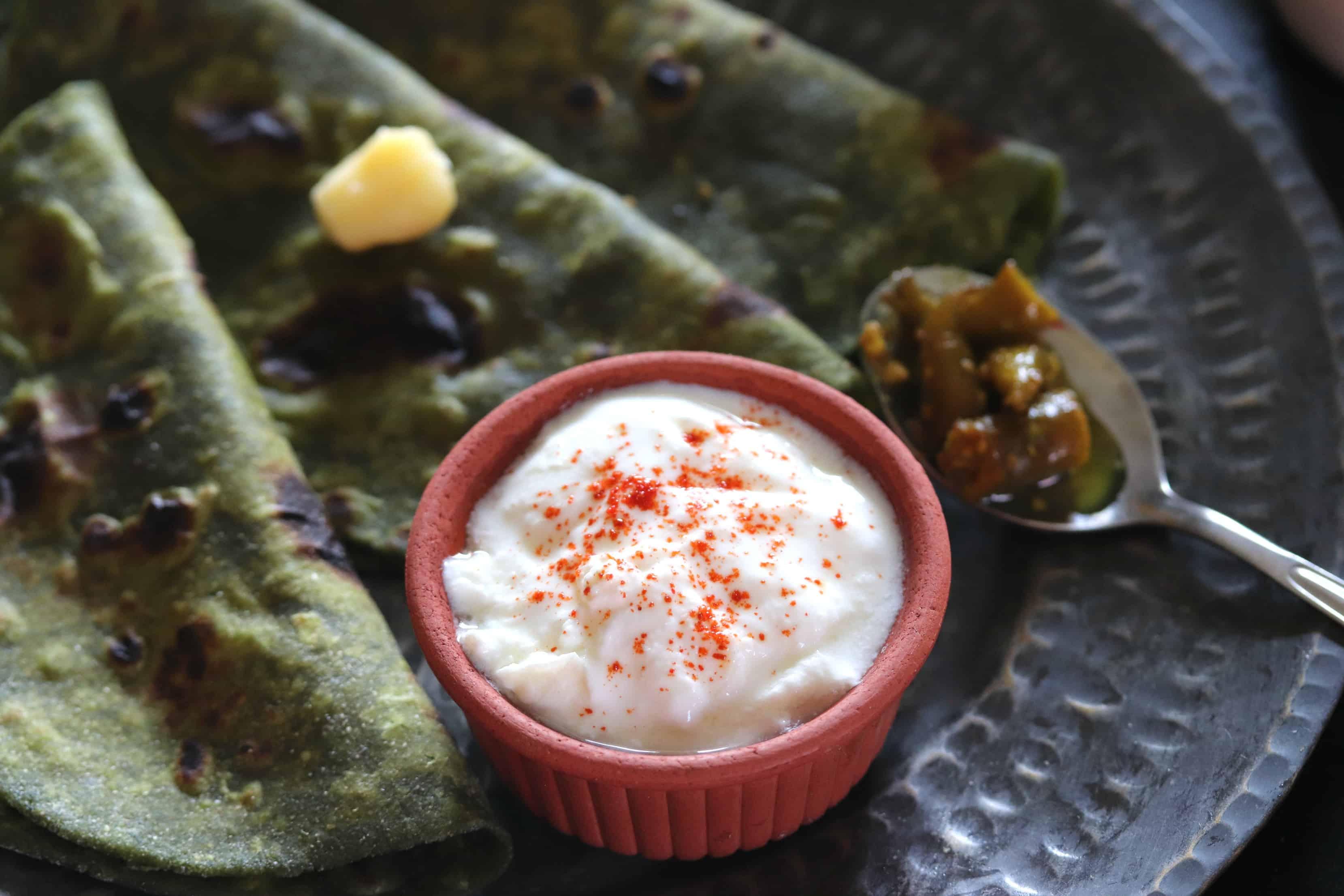 Spinach Green Garlic Paratha