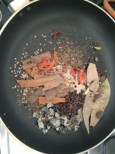 Cool the Roasted Whole Masala for grinding