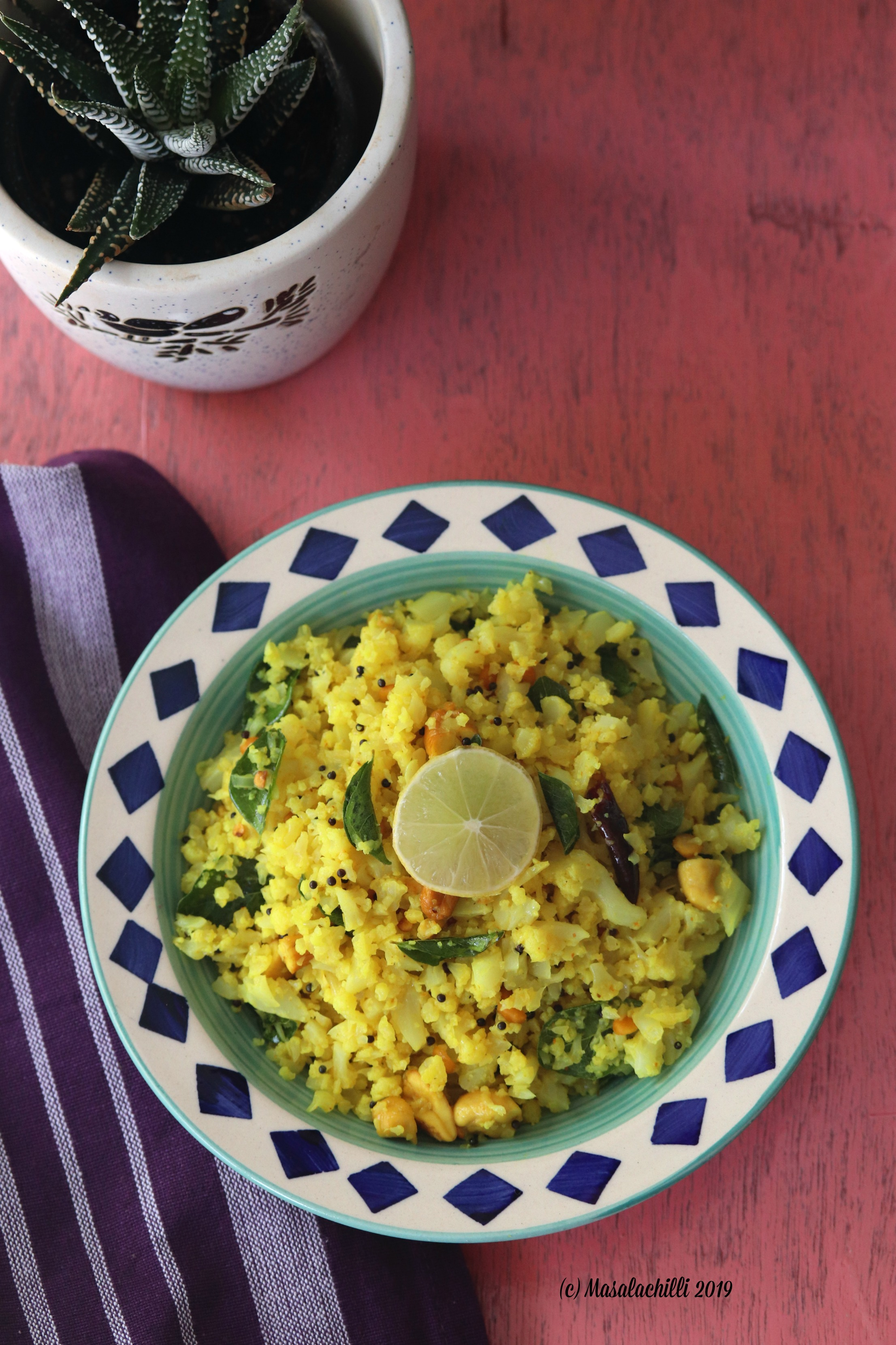 Gluten free, diabetic recipe lunch or dinner meal Cauliflower Rice recipe made under 30 minutes