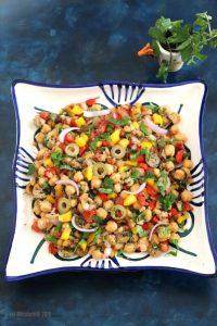 Mediterranean Chickpea Salad with Amaranth