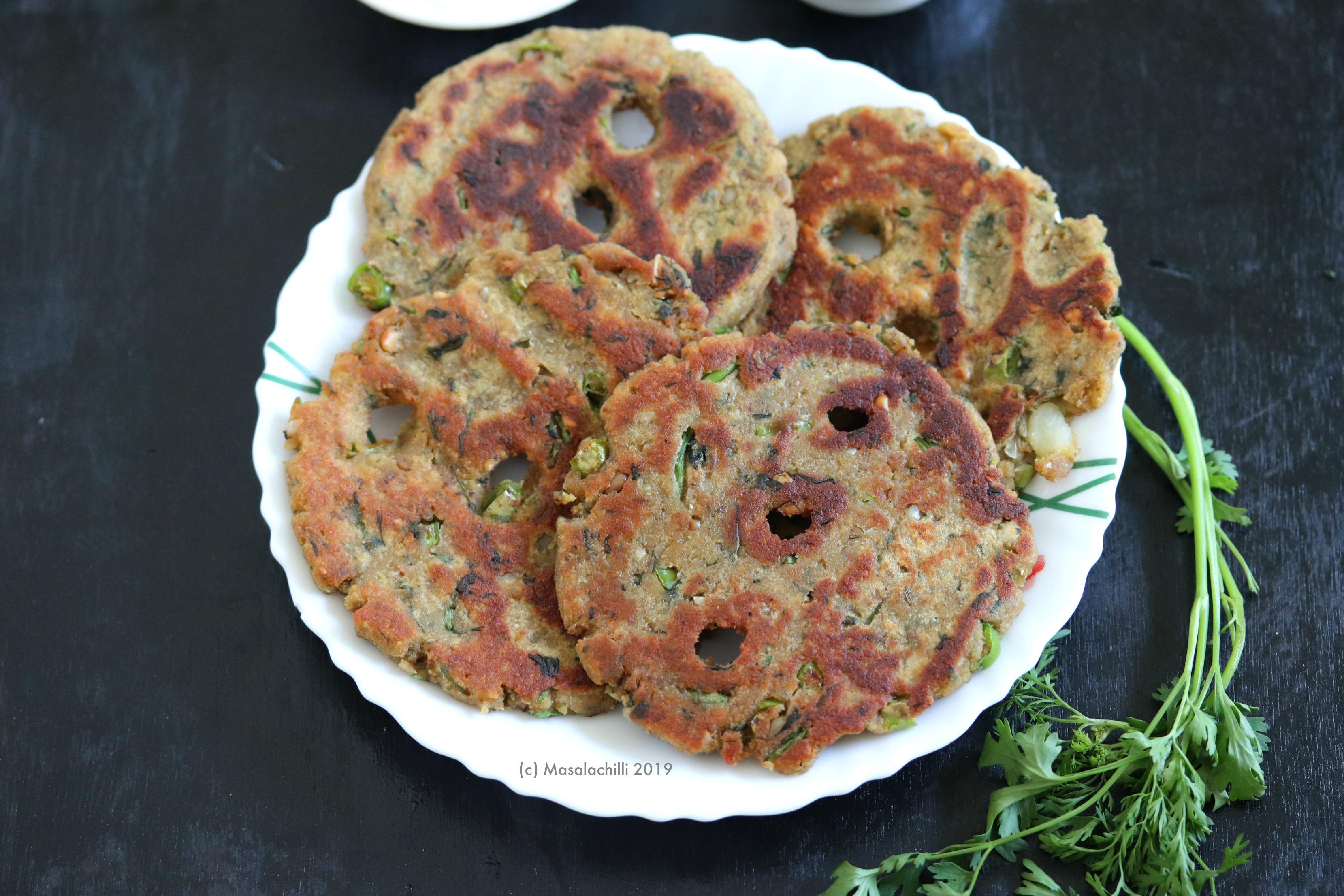 Thalipeeth is made using the gluten free Amaranth Flour