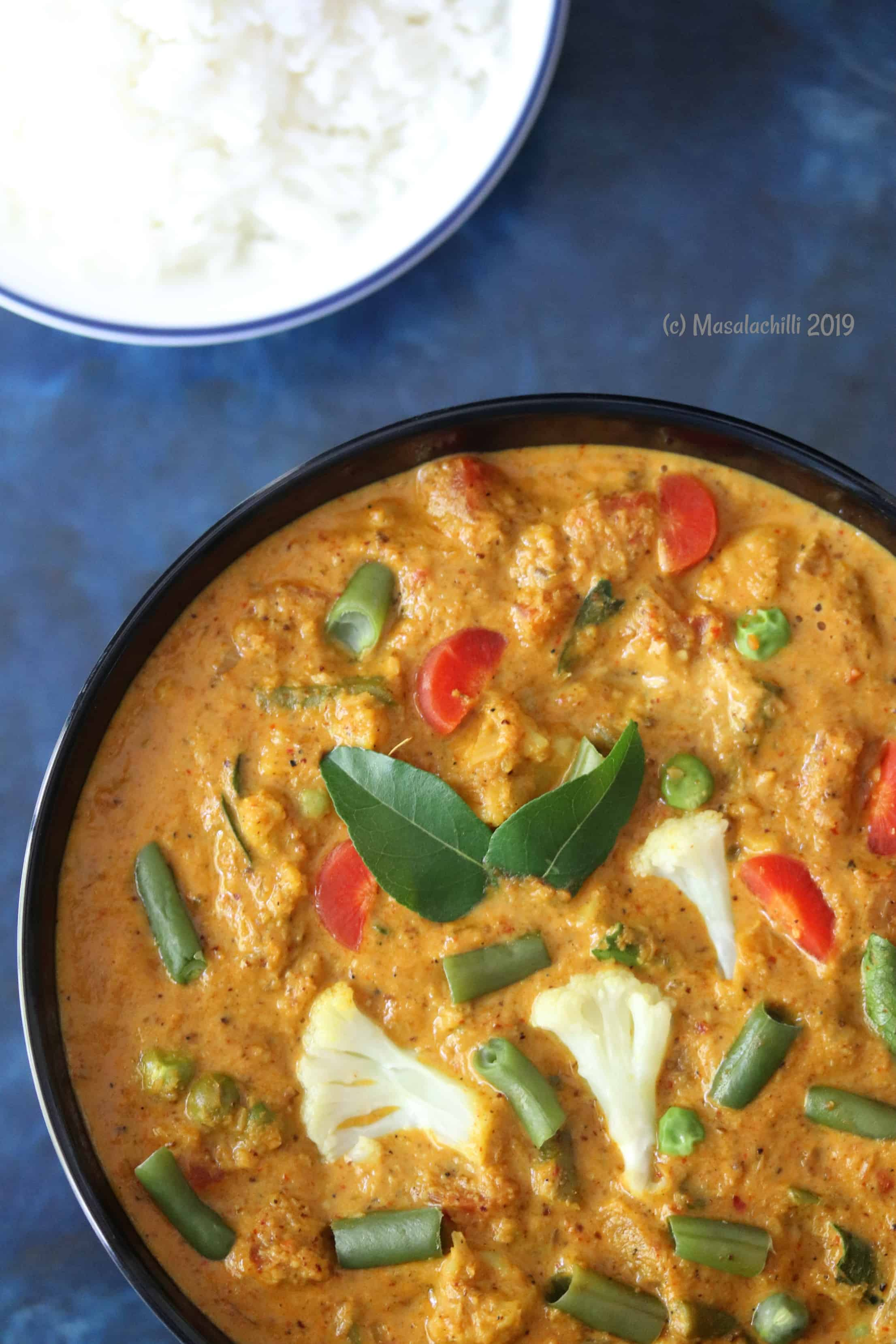 Chettinad Vegetarian recipes, curry recipe for chapathi, side dish for chapathi