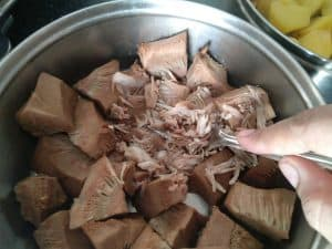 Cooked and Shredded Jackfruit