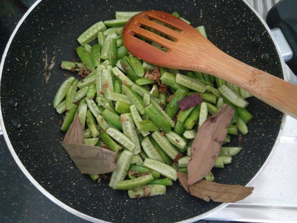 Tondli sauteed with spices