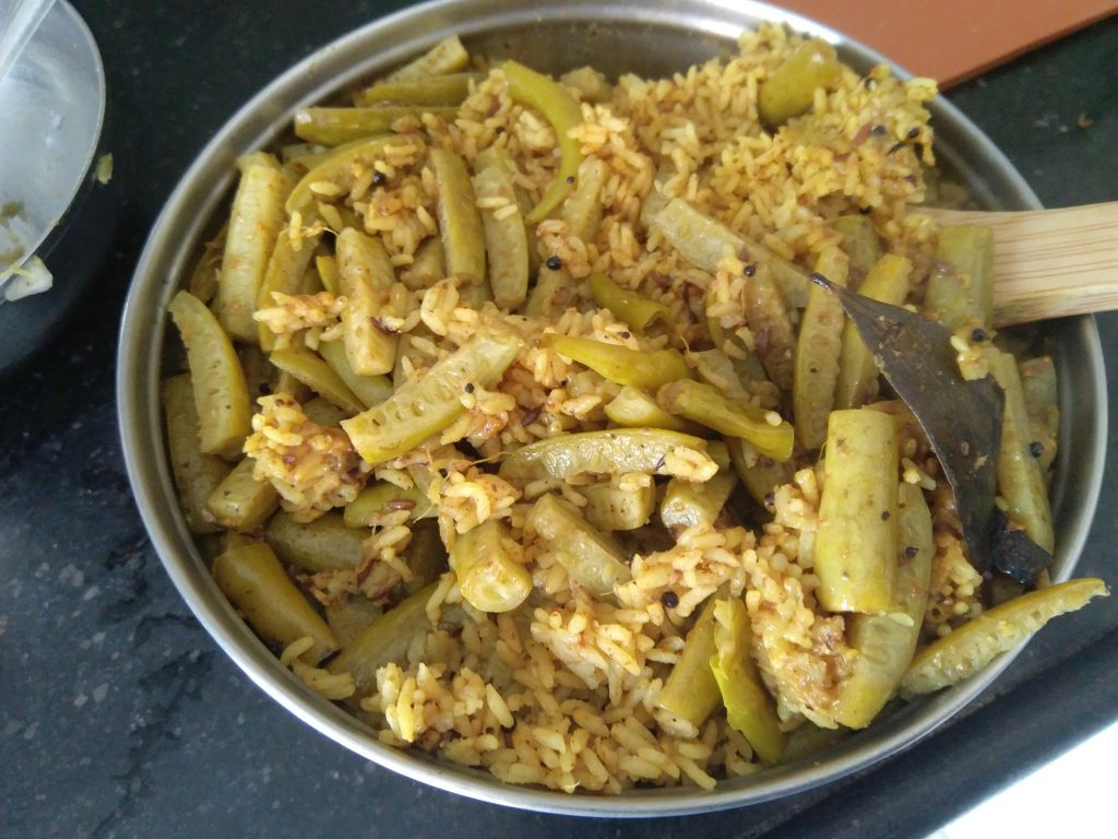 Hot Tondli Bhaat ready to be served