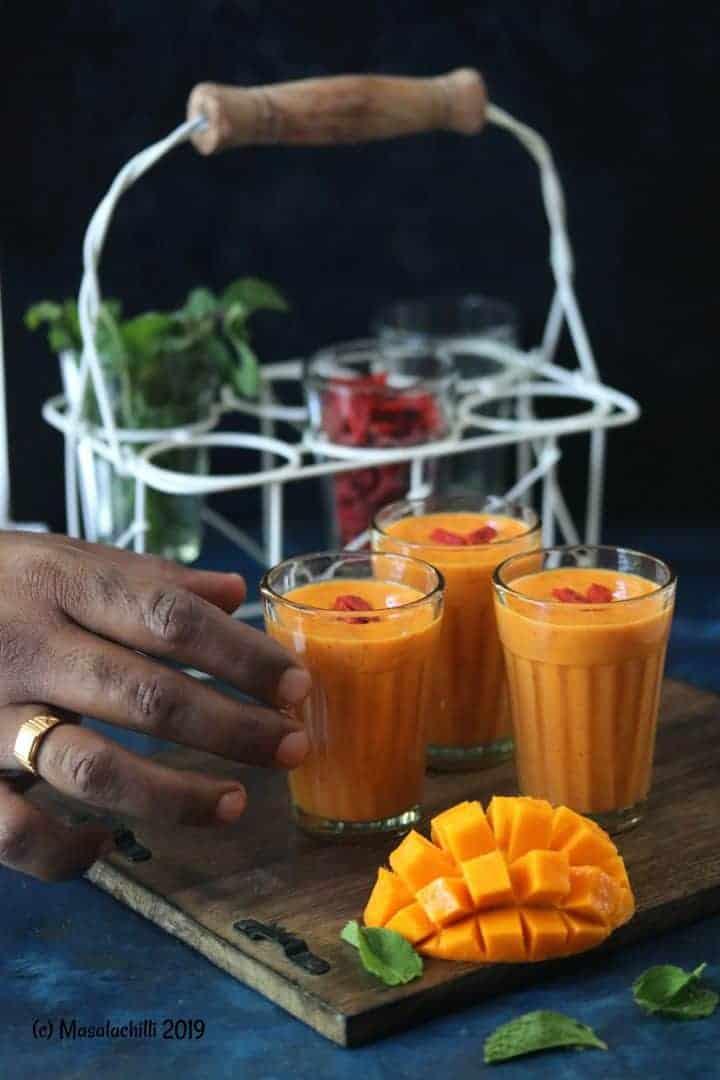 Goji Berry Mango Milkshake No Added Sugar Masalachilli A Complete Vegetarian Food Experience
