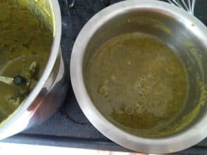 Dal and Spinach blitzed together