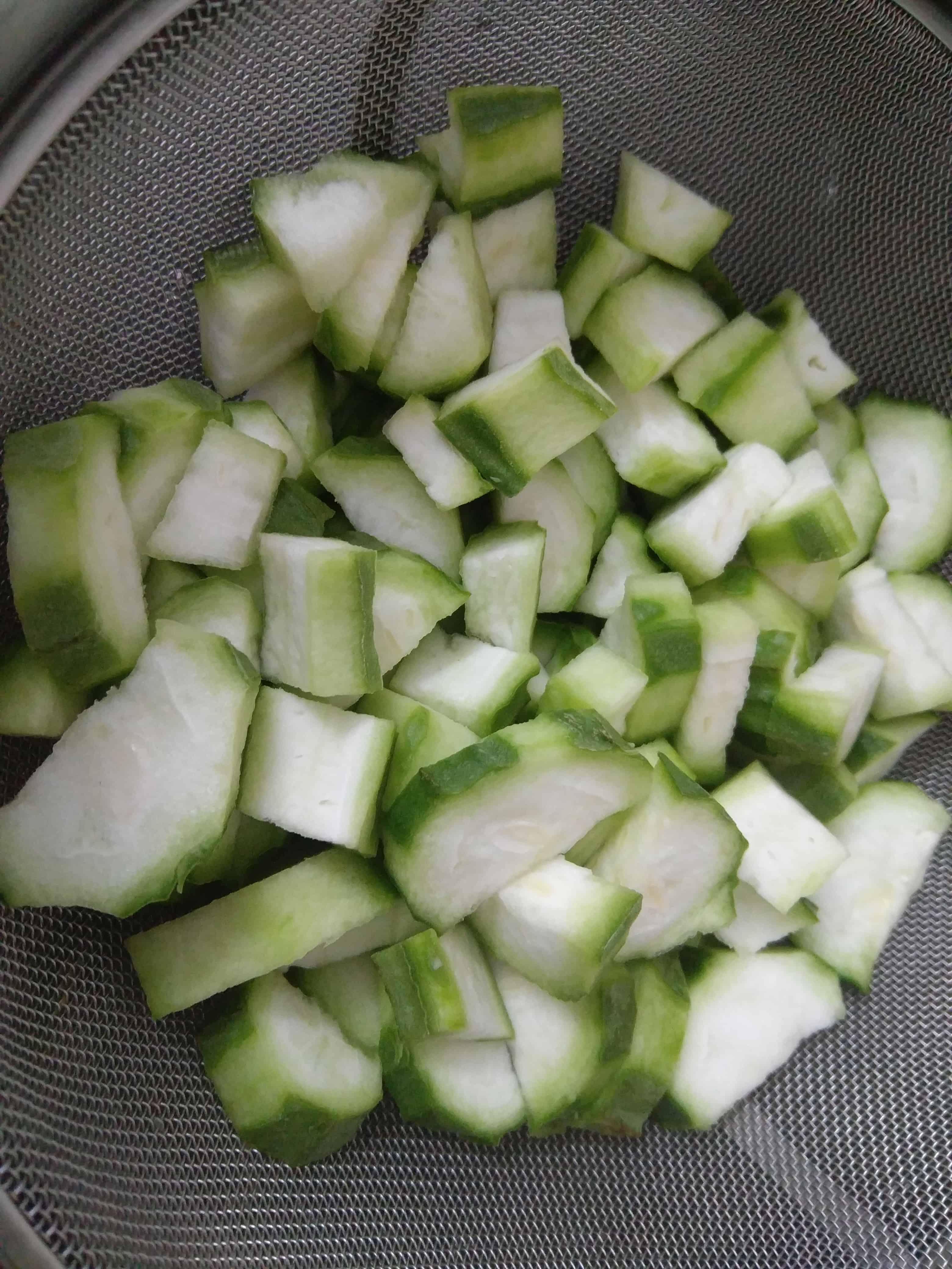 Wash and Peel the Turai or Ridge Gourd
