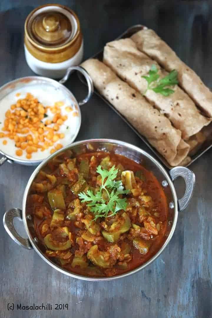 Turai Ki Sabzi / Ridge Gourd Curry