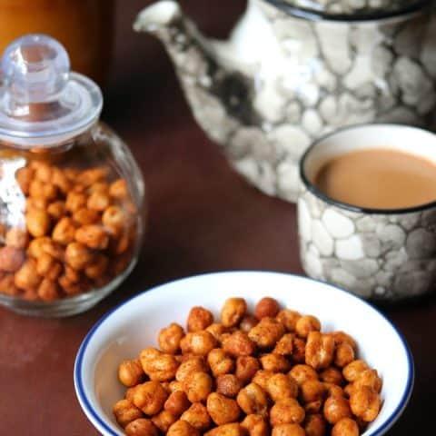 Crunchy Roasted Chickpeas in Airfryer