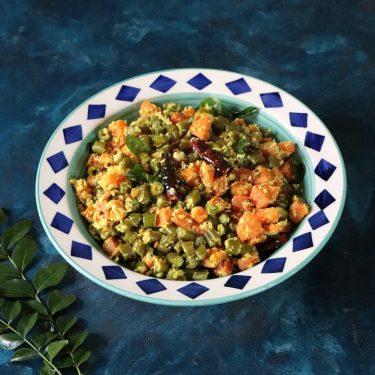 Beans Carrot Thoran / No Onion No Garlic Kerala Stir Fry Veg