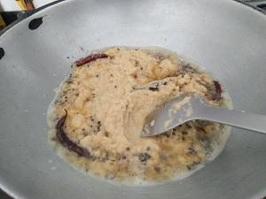 Adding the ginger paste