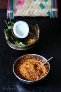 Thengai Podi / Coconut Podi for Idli Dosa