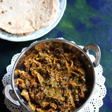 Chival Bhaji, Ghol Bhaji, Kulfa Sabzi or Purslane Leaves Stir Fry