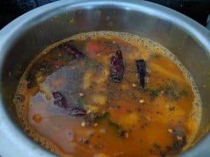 Pineapple rasam is ready to eat