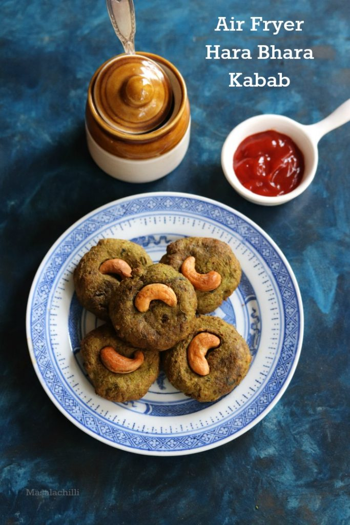 Air Fryer Hara Bhara Kabab Recipe