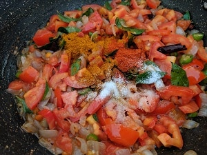 Seasoning and spices for tomato rice