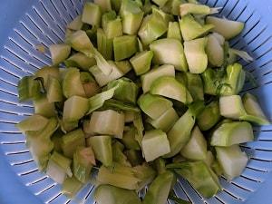 Chopped Broccoli Stem