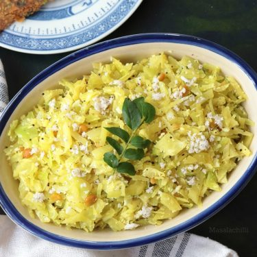 Cabbage Poriyal (Muttaikose Poriyal)