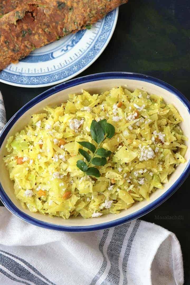 Cabbage Poriyal (Muttaikose Poriyal)