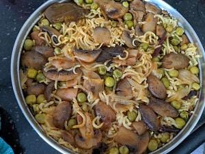 Mushroom Pulao is ready to eat. Serve with raita or curd