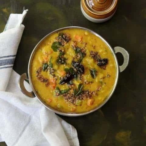 Pudalangai Kootu or Snake Gourd Kootu Recipe