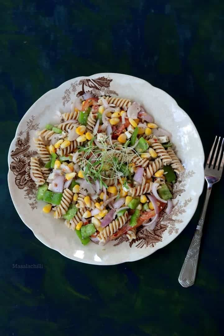 Fresh Vegetarian Pasta Salad Recipe