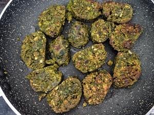 Kothimbir vadi is ready to eat
