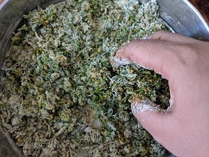 Adding chickpea flour or gram flour