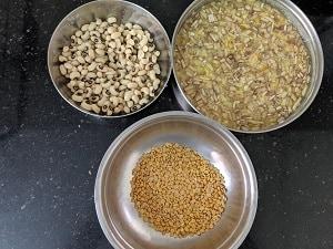 Ingredients for Vazhaipoo Kootu