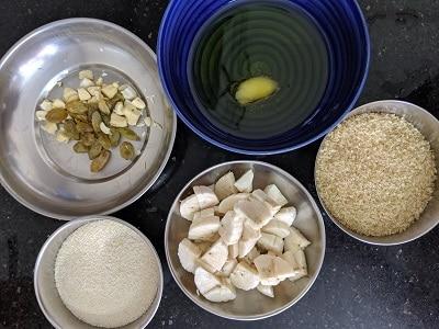 Ingredients for Banana Sheera
