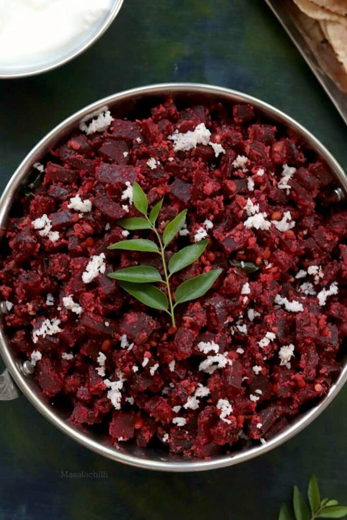 Stir Fried Beetroot with Coconut