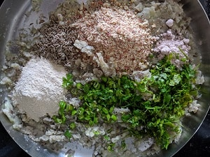 Ingredients for Raw Banana cutlets