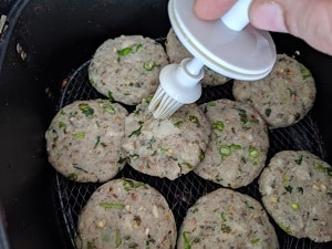 apply oil or spray oil on the cutlets before air frying