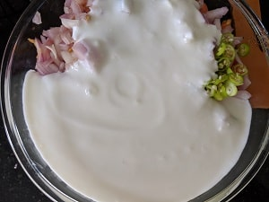 Fresh Yogurt with mixed vegetables