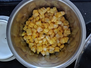 Grinding half the portion of corn