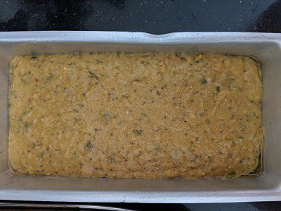 Banana Bread ready to bake