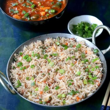 Vegetable Fried Rice Recipe (Indo Chinese Fried Rice)