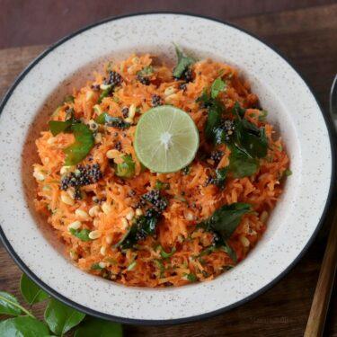 Carrot Kosumalli – Easy Carrot Lentil Salad Recipe