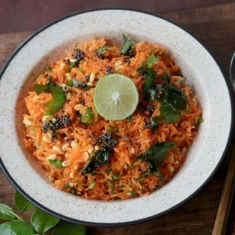 Carrot Kosumalli - Rama Navami Prasad Recipe