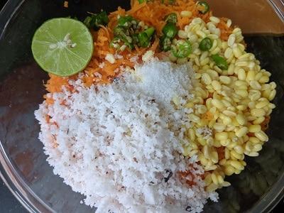 Ingredients for the Kosumalli salad