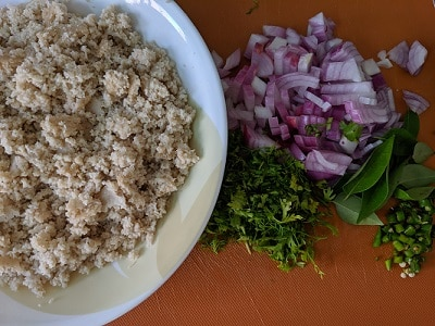 Ingredients for Idli Upma