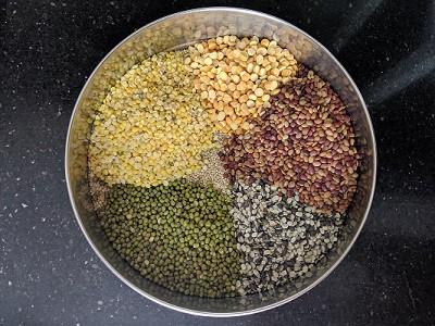 Ingredients for Quinoa Adai Dosa